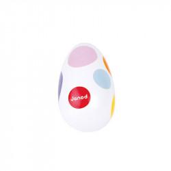 Huevo maraca confetti madera