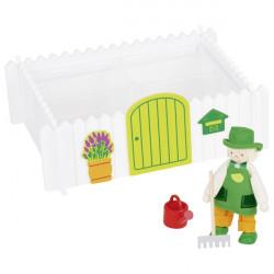 Muñeco flexible jardinero....