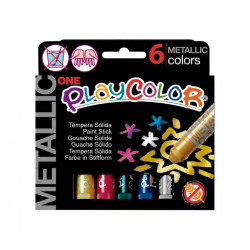 Témpera sólida Playcolor 6...
