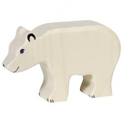 Oso polar de madera